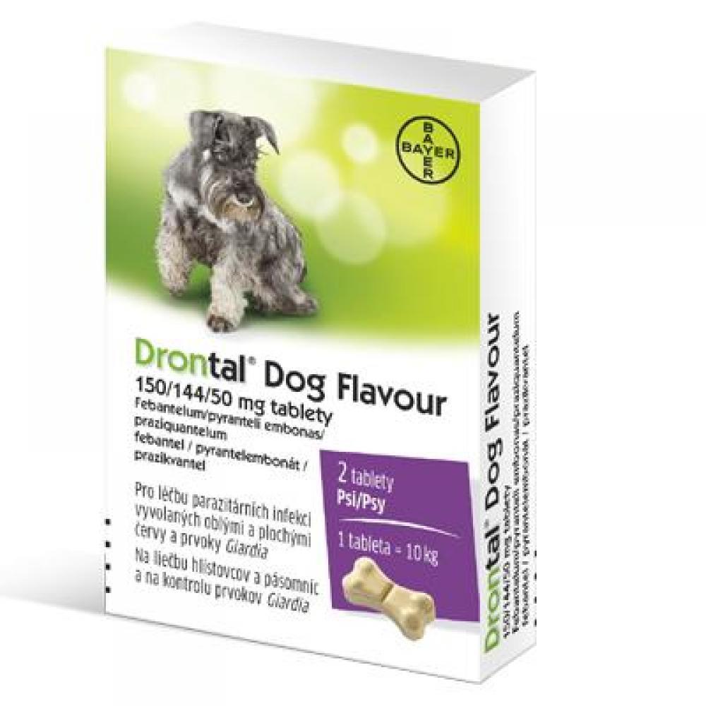 DRONTAL Dog flavour pro psy a.u.v., 5-20 kg, 2 tablety