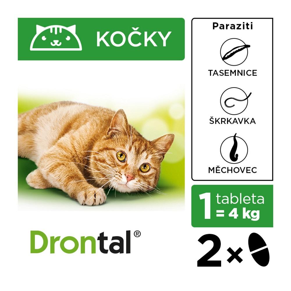 krabička tablet Drontal pro kočky