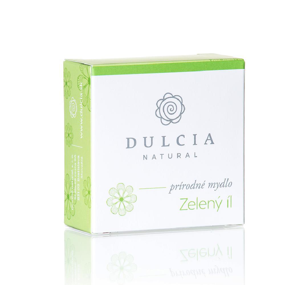 DULCIA Natural Přírodní mýdlo Zelený jíl 90 g