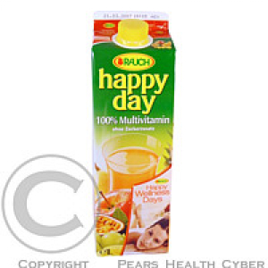 Džus Happy Day multivitamín 100 % 1l krabice