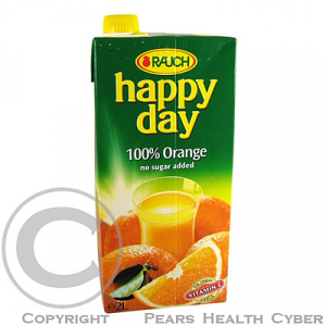 Džus Happy Day pomeranč 100% 2 l krabice