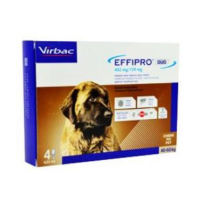 VIRBAC EFFIPRO DUO Dog XL (40-60 kg) 402/120 mg, 4x4,02 ml