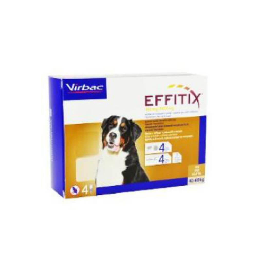 VIRBAC Effitix Spot-on pro psy XL (40-60 kg) 4 pipety