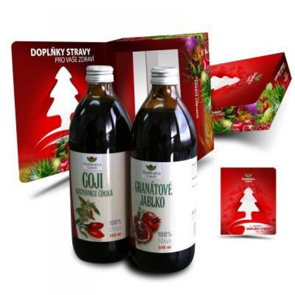 EKOMEDICA Duopack Goji 500 ml + Granátové jablko 500 ml