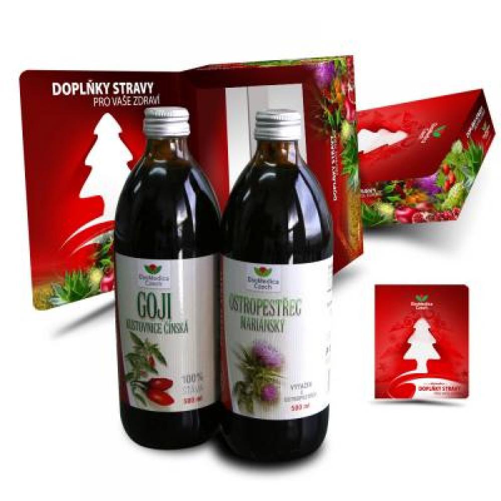 EkoMedica Duopack Goji 500 ml + Ostropestřec 500 ml