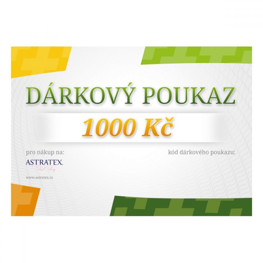 Elektronický dárkový poukaz e-shopu Astratex.cz v hodnotě 1000 Kč