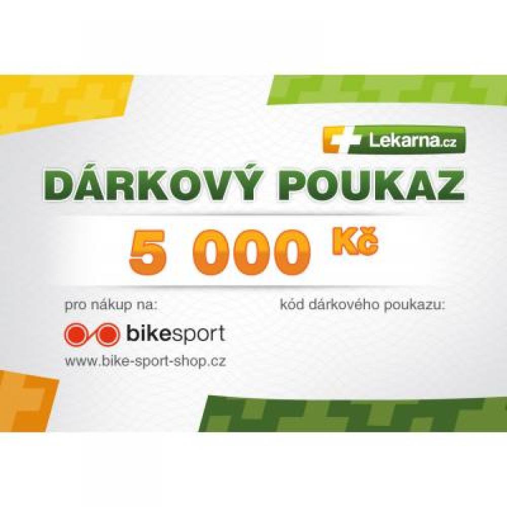 Elektronický dárkový poukaz e-shopu Bike-sport-shop.cz v hodnotě 5000 Kč