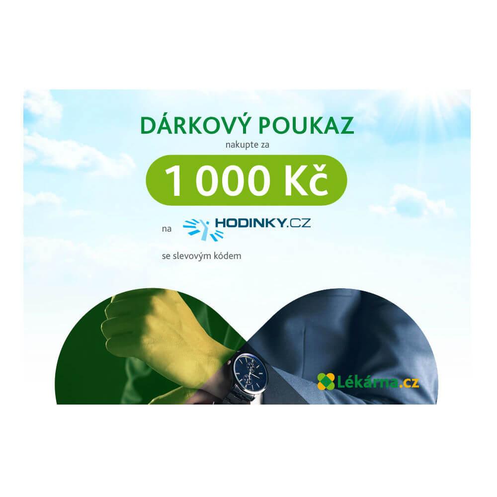 Elektronický dárkový poukaz e-shopu Hodinky.cz v hodnotě 1000 Kč