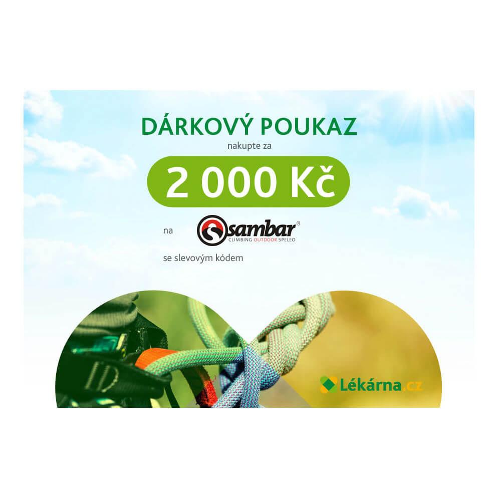 Elektronický dárkový poukaz e-shopu Sambarsport.cz v hodnotě 2000 Kč