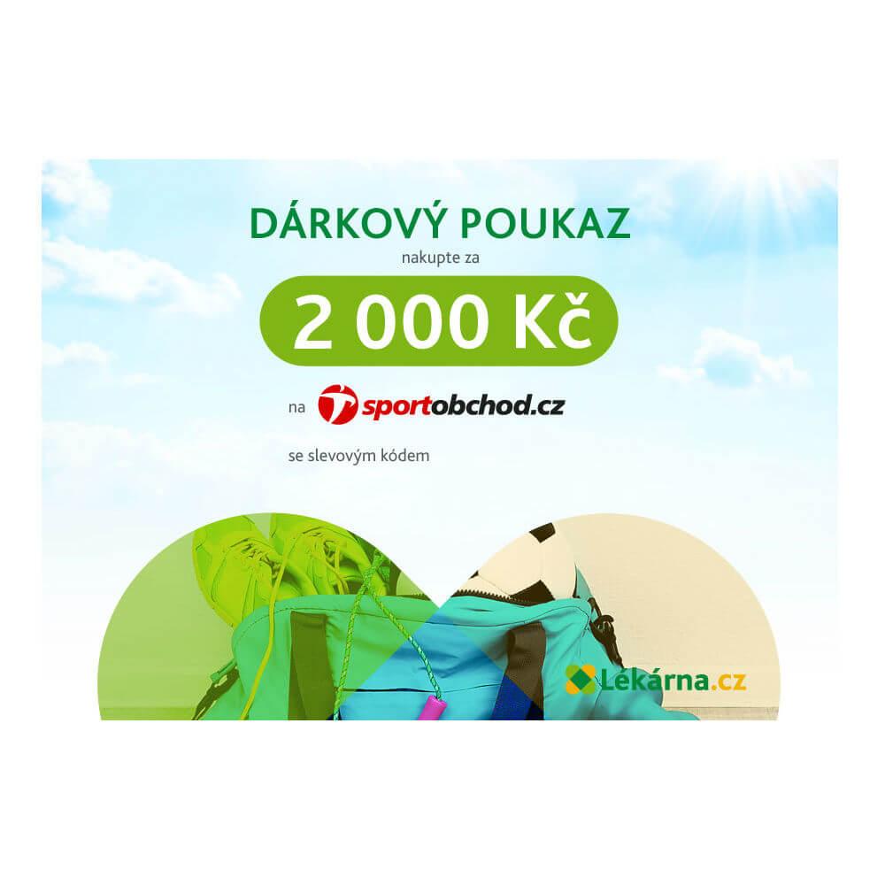 Elektronický dárkový poukaz e-shopu Sportobchod.cz v hodnotě 2000 Kč