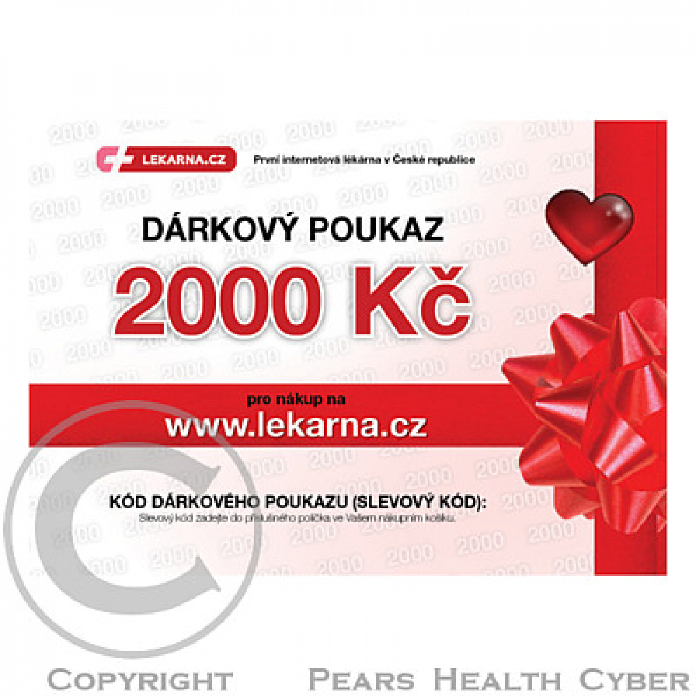 Elektronický dárkový poukaz pro Vaše milé 2000 Kč