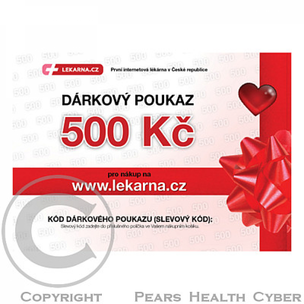 Elektronický dárkový poukaz pro Vaše milé 500 Kč