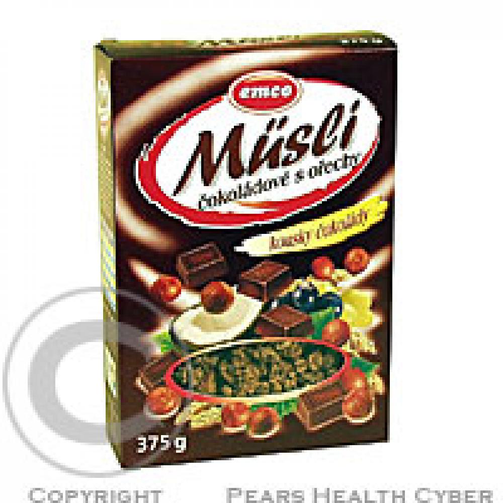 EMCO Müsli čokoládové s lískovými oříšky 375g