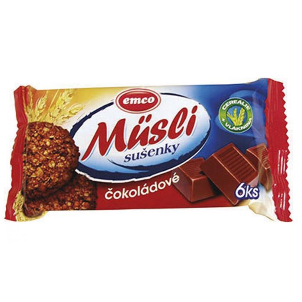 EMCO Müsli sušenky čokoládové 60 g