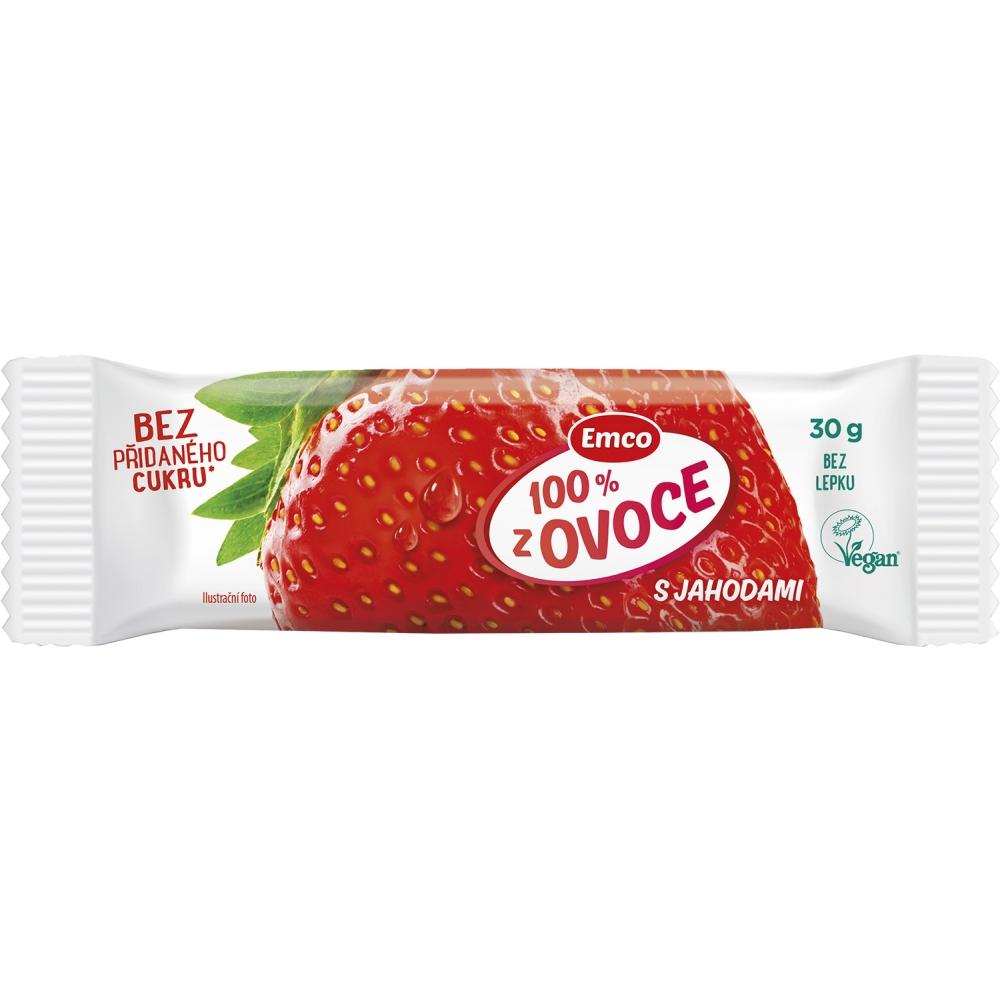 EMCO Tyčinka 100% ovoce Jahoda 30 g