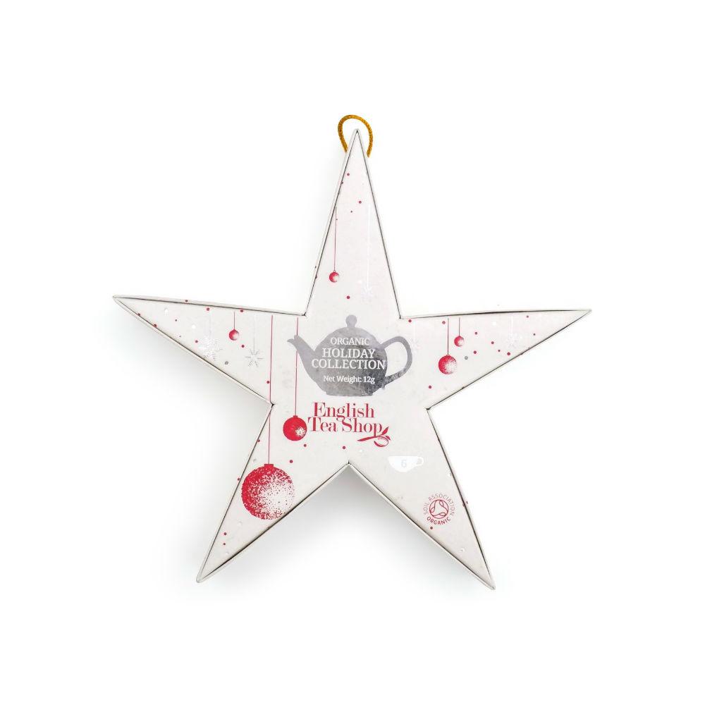 ENGLISH TEA SHOP Červená a stříbrná hvězda BIO 12g