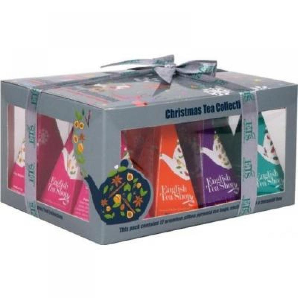 English Tea Shop dárkové balení Vánoční ozdoby 12 kusů pyramidových čajů
