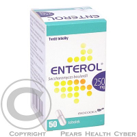 ENTEROL 50X250MG Tobolky