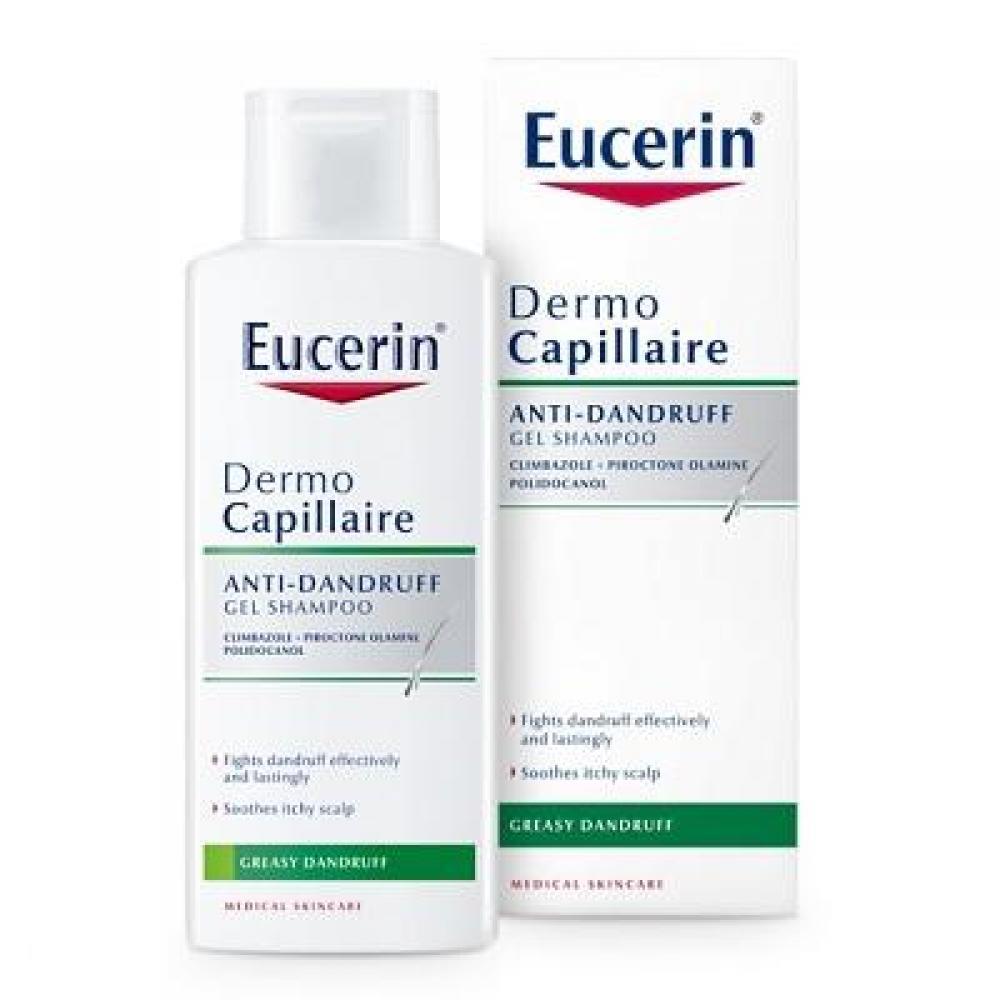 EUCERIN DermoCapillaire Gelový šampon proti mastným lupům 250 ml