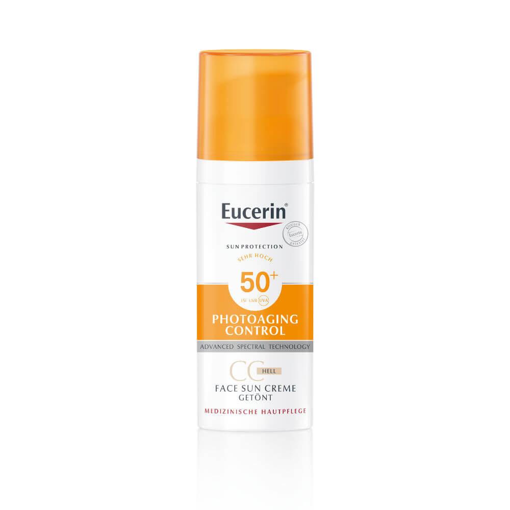 EUCERIN SUN CC krém na opalování SPF 50+ světlý 50 ml