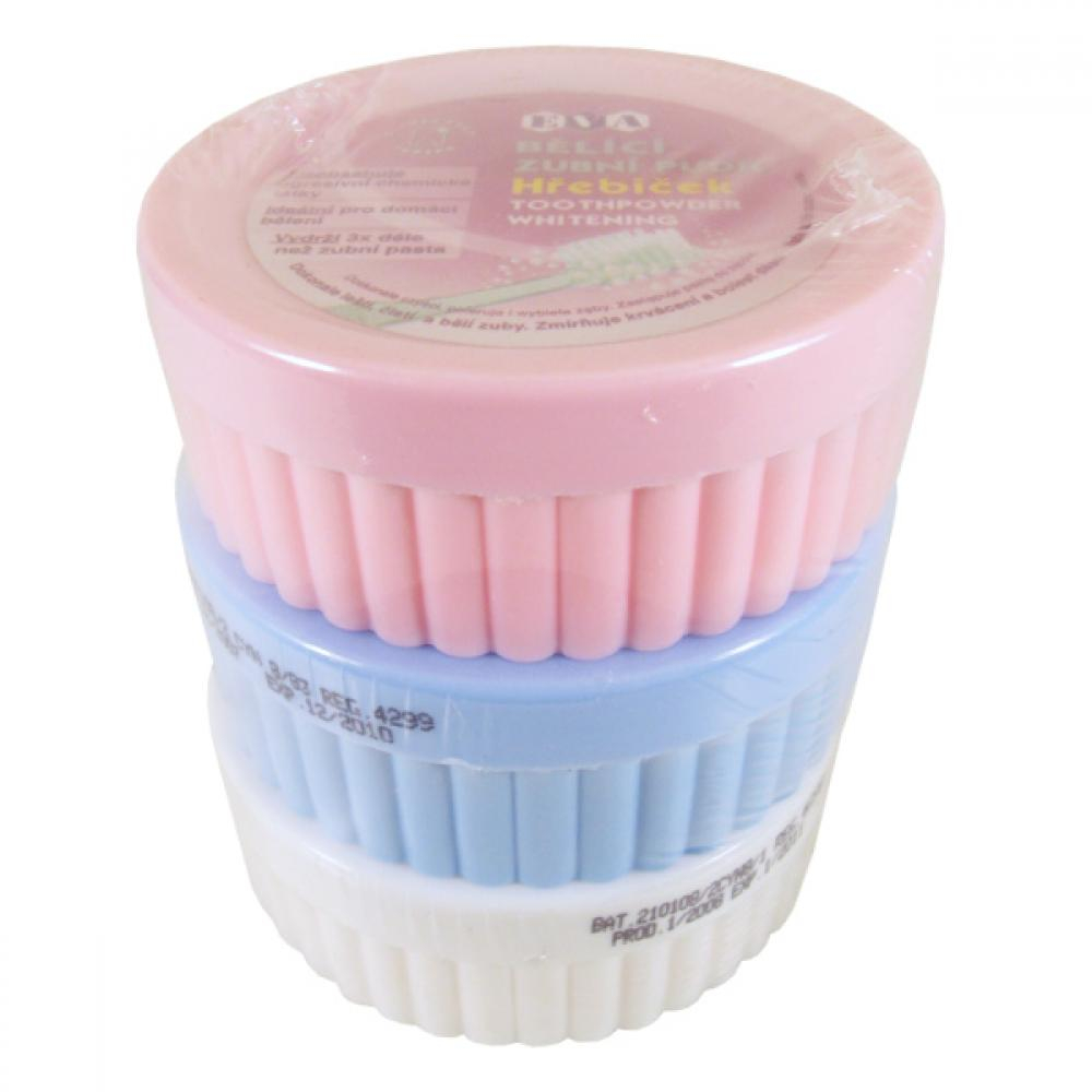 EVA Bělící zubní pudr Mix Menthol + Hřebíček + Fluor