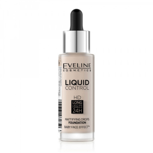 EVELINE COSMETICS Liquid Control HD tekutý make-up s kapátkem 005 IVORY 32 ml