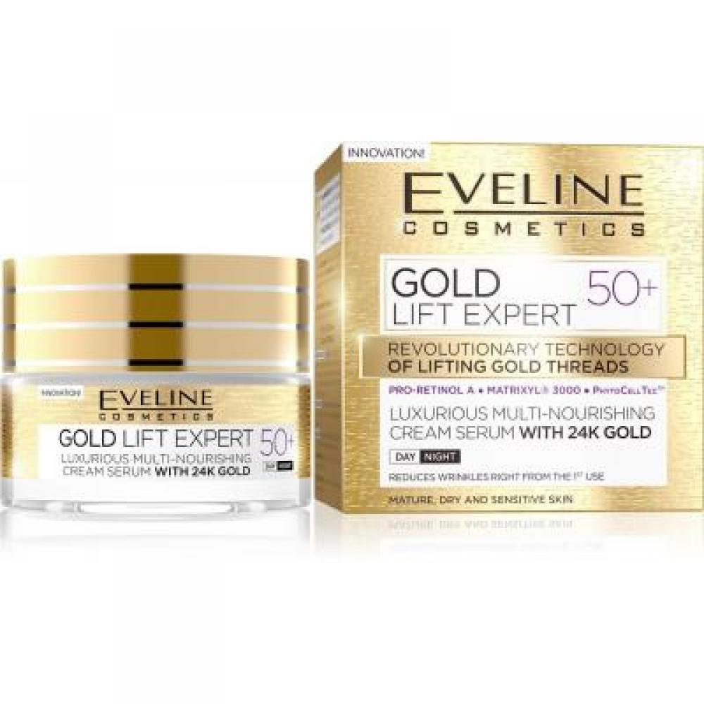 EVELINE Gold Lift Expert denní anoční krém 50+ 50 ml