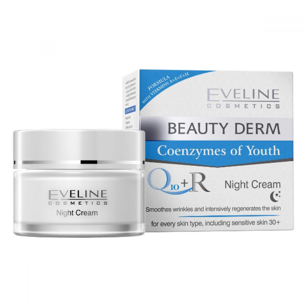 EVELINE Coenzymes Q10+R - Noční krém s koenzymem Q10 + R 50 ml