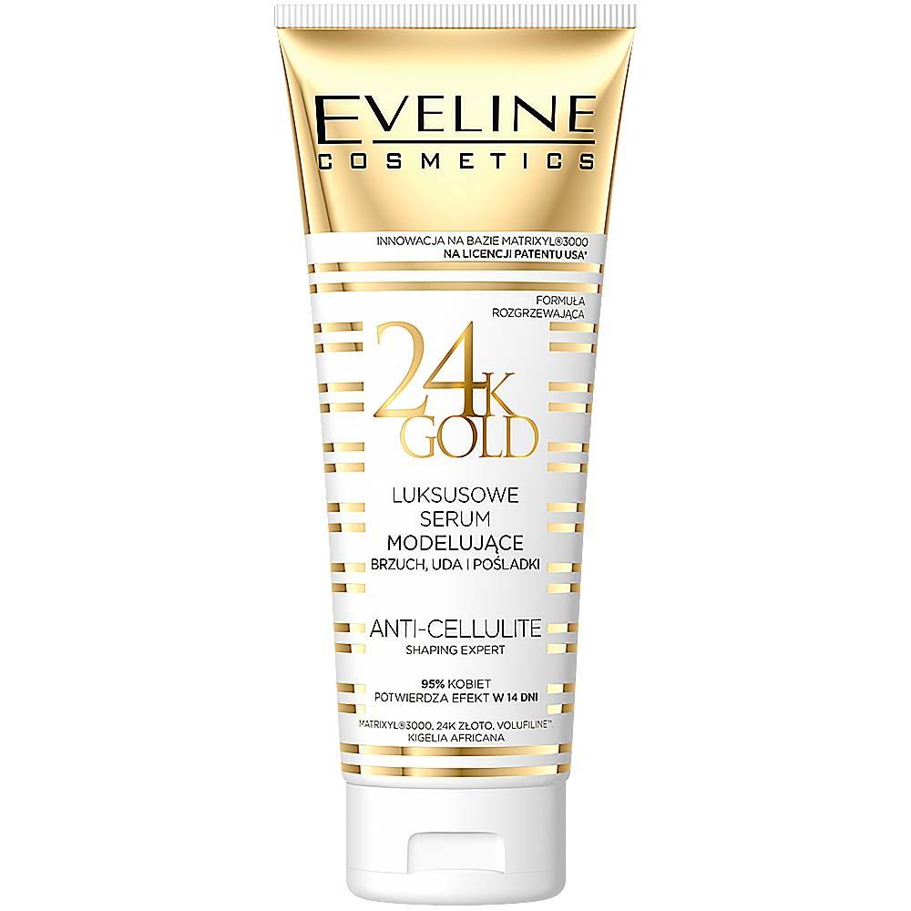 EVELINE Slim Therapy 24kGold Modelující sérum na břicho, stehna a hýždě 250 ml
