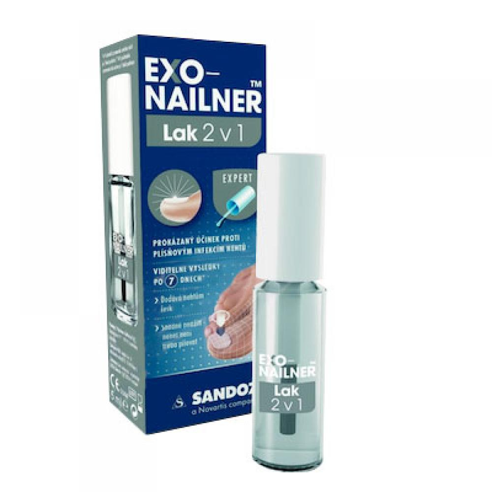 EXONAILNER Lak na nehty 2v1 5 ml