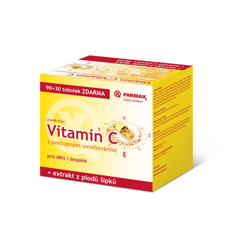 FARMAX Vitamin C s postupným uvolňováním 90+30 tobolek