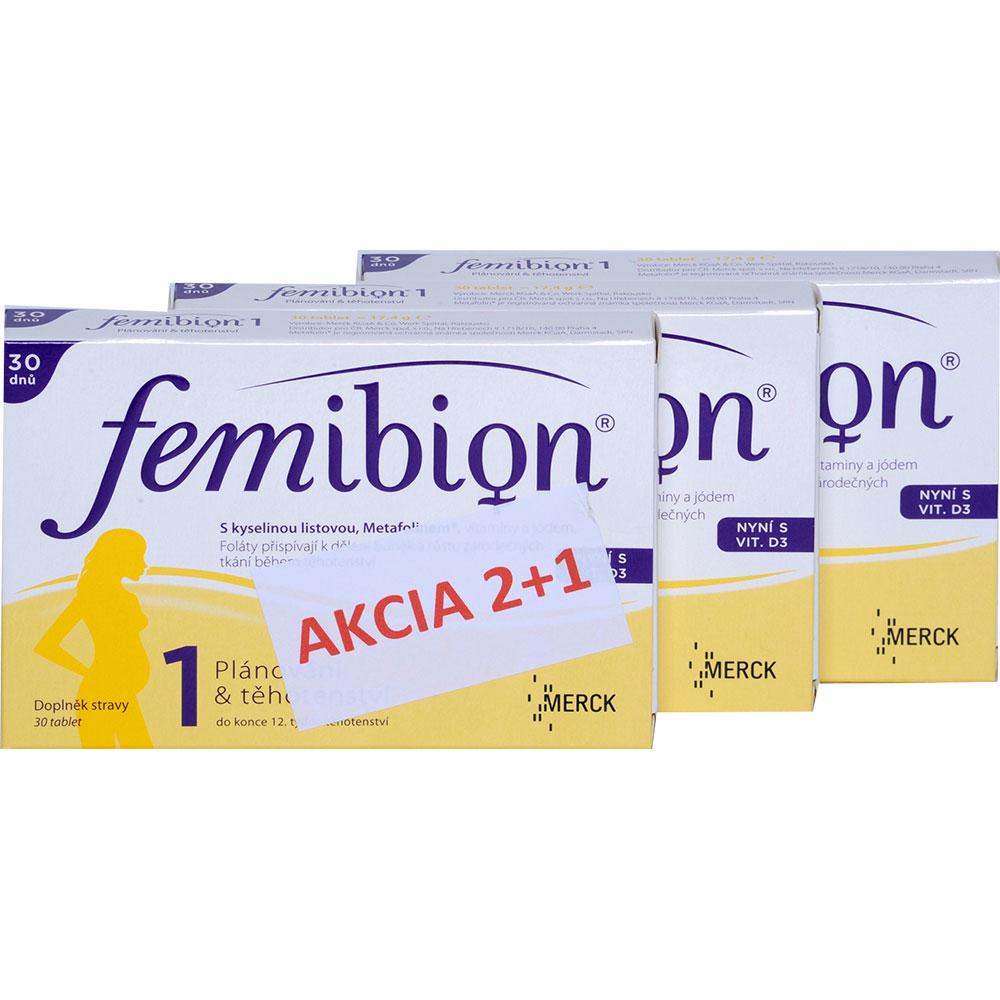 FEMIBION 1 vánoční balení 2+1 ZDARMA