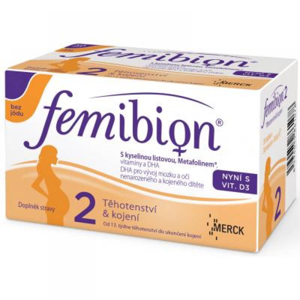 FEMIBION 2 s vitamínem D3 bez jódu 60 tablet + 60 tobolek
