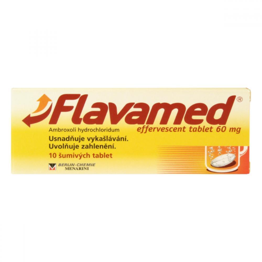 FLAVAMED EFFERVESCENT TABLET 60 MG 10X60MG Šumivé tablety