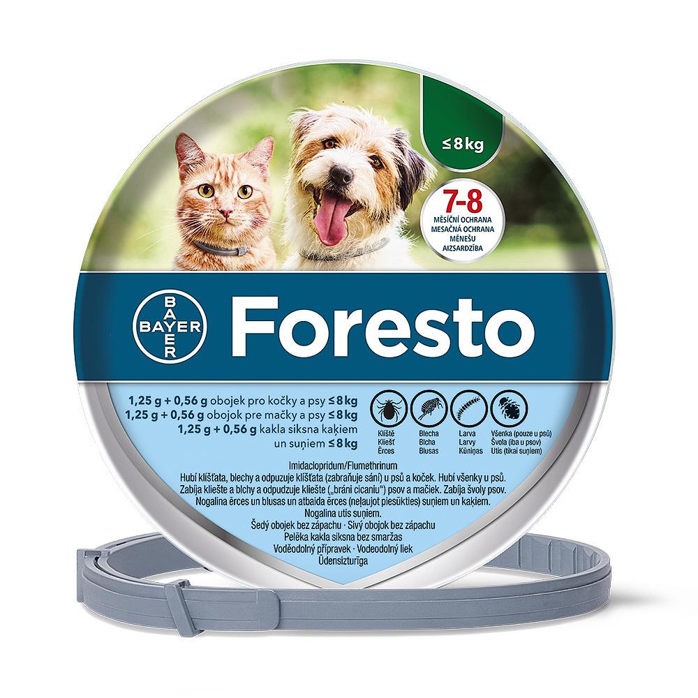 Foresto (1.25 g + 0.56 g) obojek pro kočky a psy do 8 kg délka 38 cm