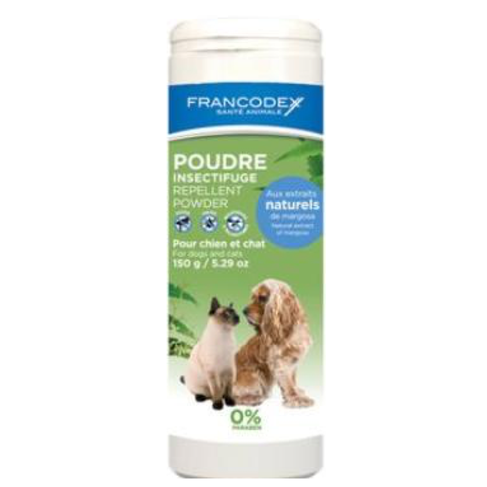 FRANCODEX Pudr repelentní pes, kočka 150 g