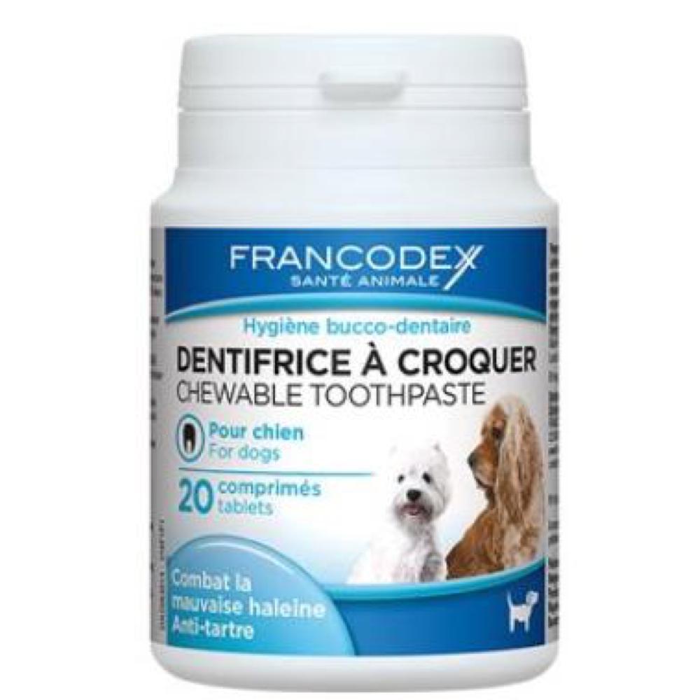 FRANCODEX Žvýkací zubní pasta v tabletách pes 20 tbl