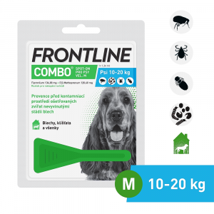 FRONTLINE combo spot-on dogs a.u.v. roztok 1x1,34 ml