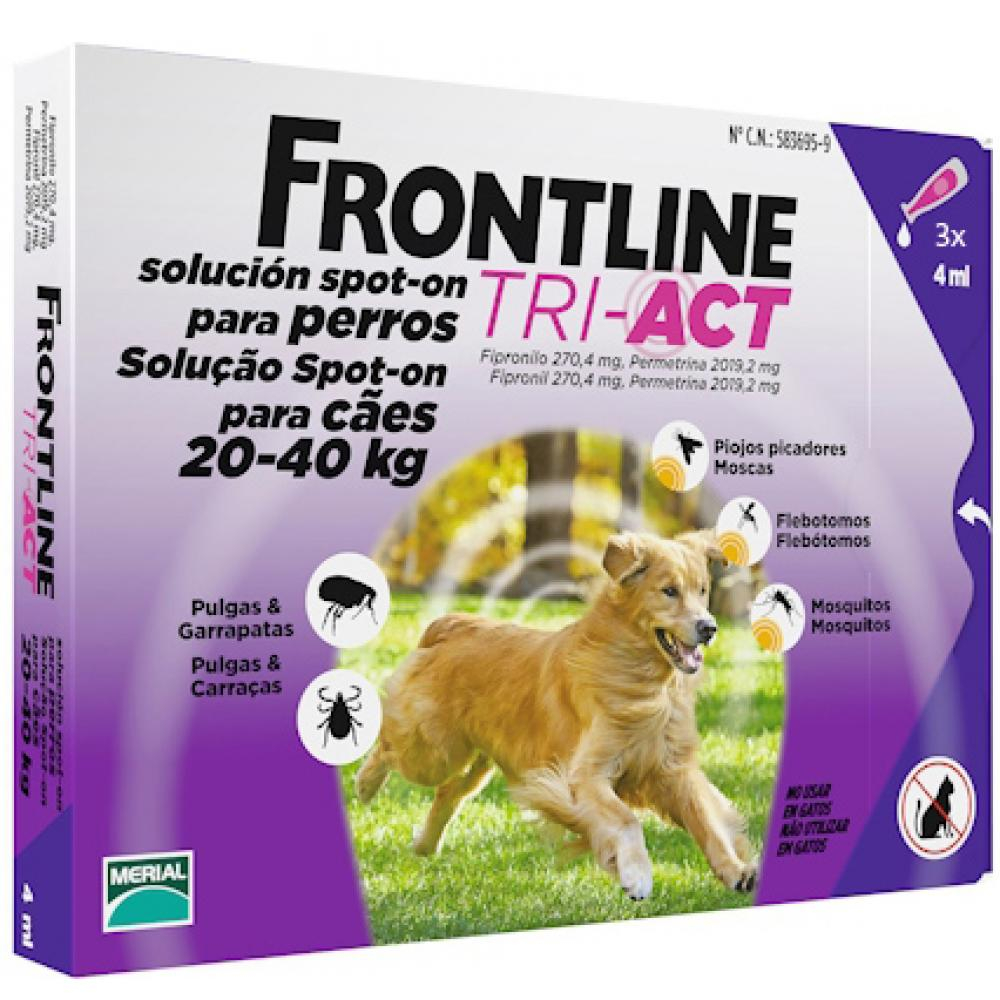 FRONTLINE Tri-Act pro psy Spot-on L (20-40 kg) 3 pipety