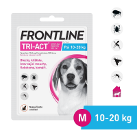 FRONTLINE Tri-Act pro psy Spot-on M (10-20 kg) 1 pipeta