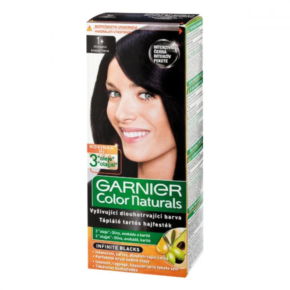GARNIER Color Naturals barva na vlasy odstín 1+ ultra černá
