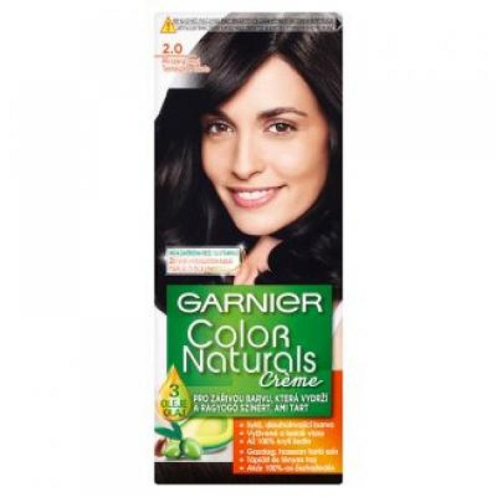 GARNIER Color Naturals barva na vlasy odstín 2.0 jemně černá