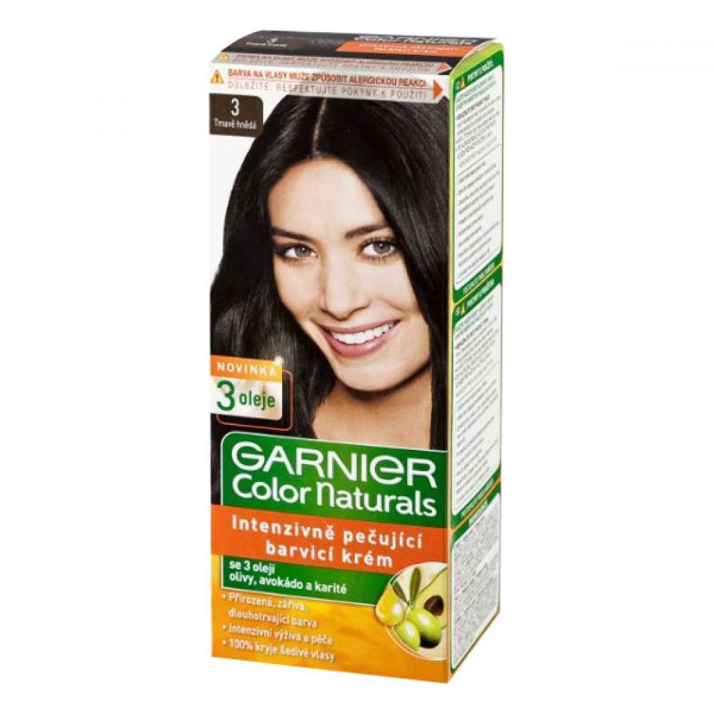 GARNIER Color Naturals barva na vlasy odstín 3 tmavě hnědá