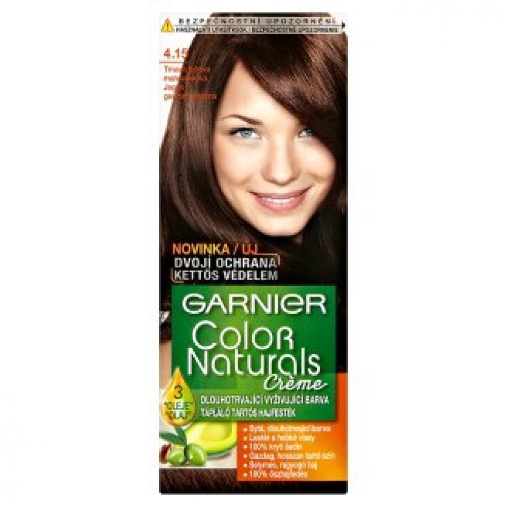 GARNIER Color Naturals barva na vlasy odstín 4,15 tmavá ledová mahagon