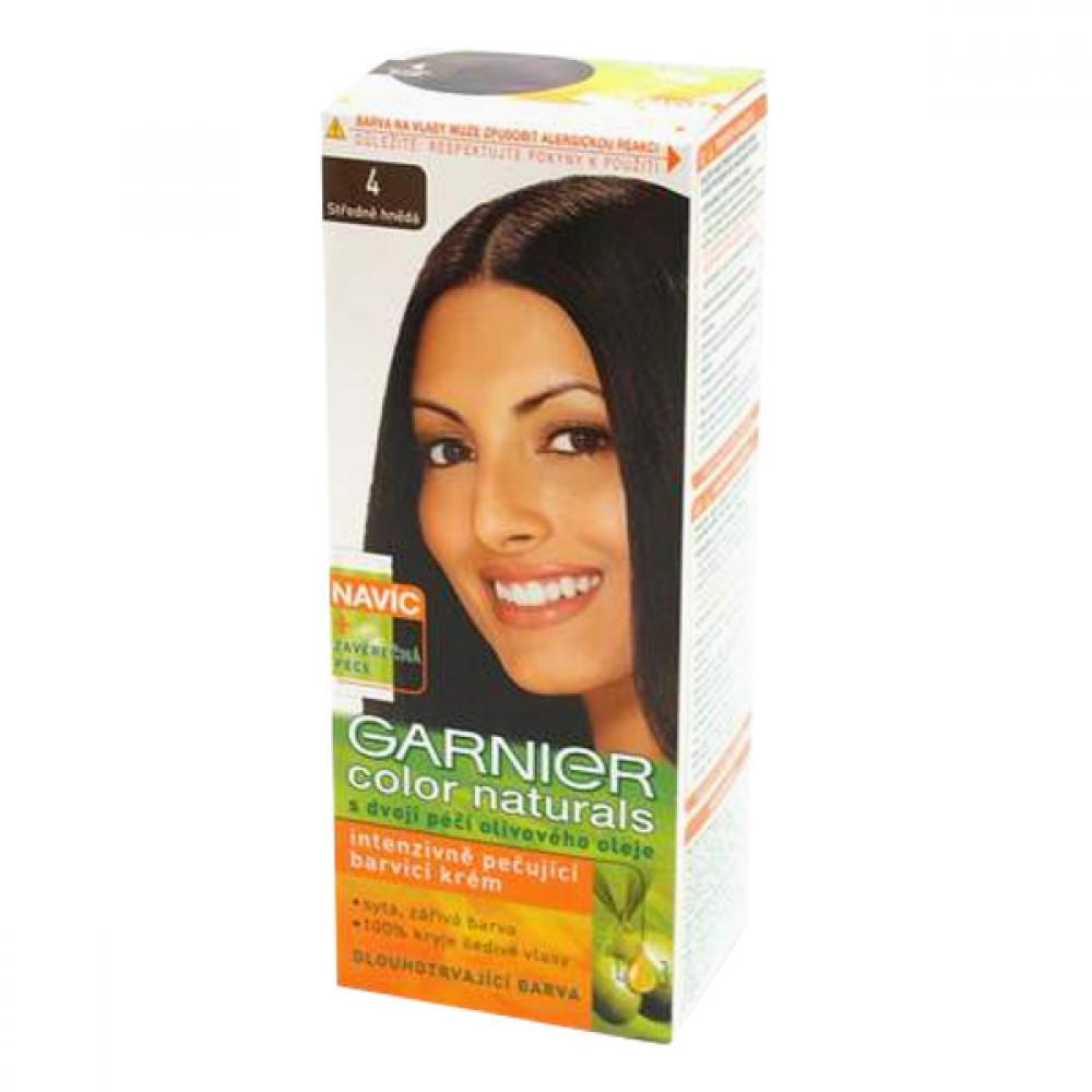 GARNIER Color Naturals barva na vlasy odstín 4 středně hnědá
