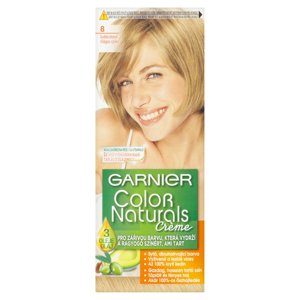 GARNIER color naturals 8 světlá blond