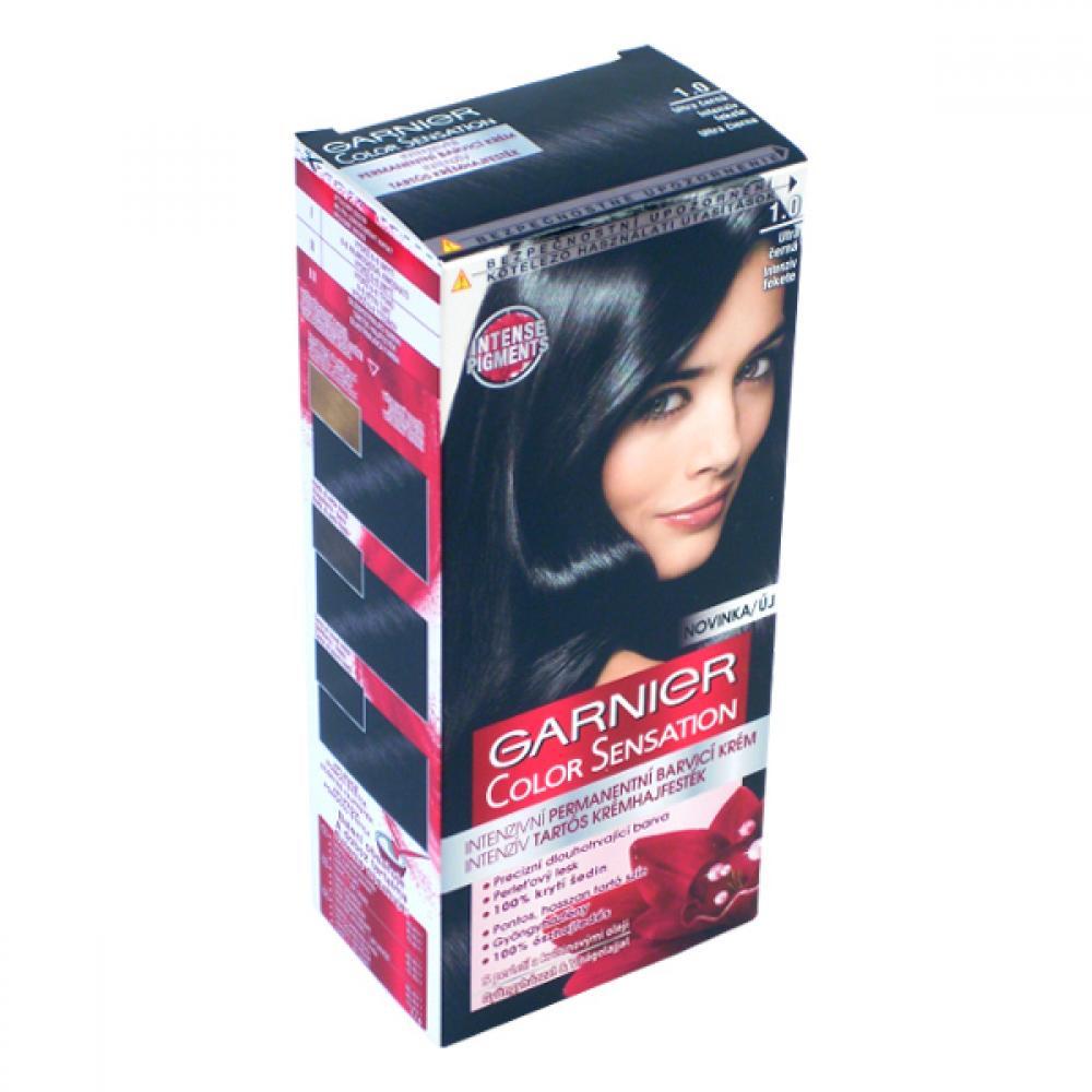 GARNIER Color Sensitive barva na vlasy odstín 1,0 ultra černá