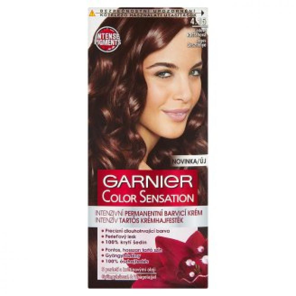 GARNIER Color Sensitive barva na vlasy odstín 4.15 ledová mahagonová
