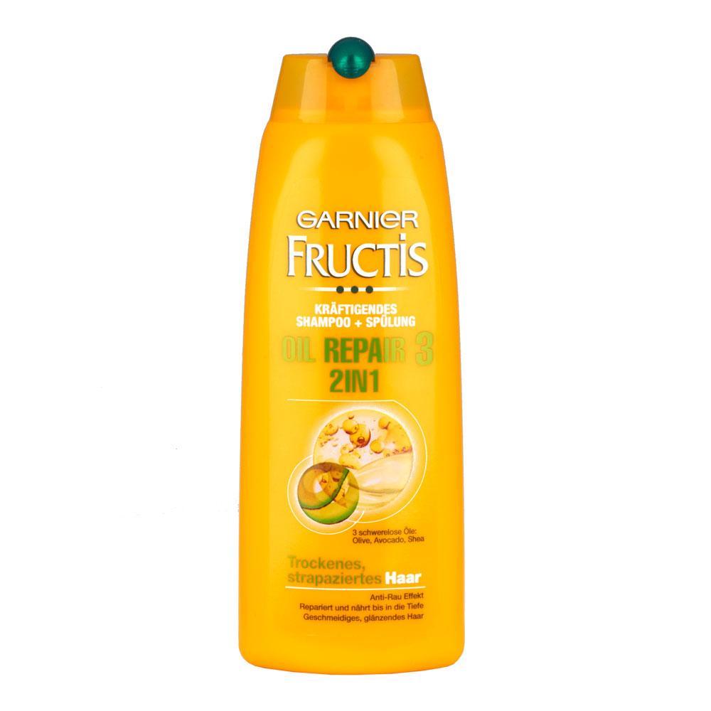 GARNIER Fructis šampon 2 v 1 250 ml regenerace + lesk