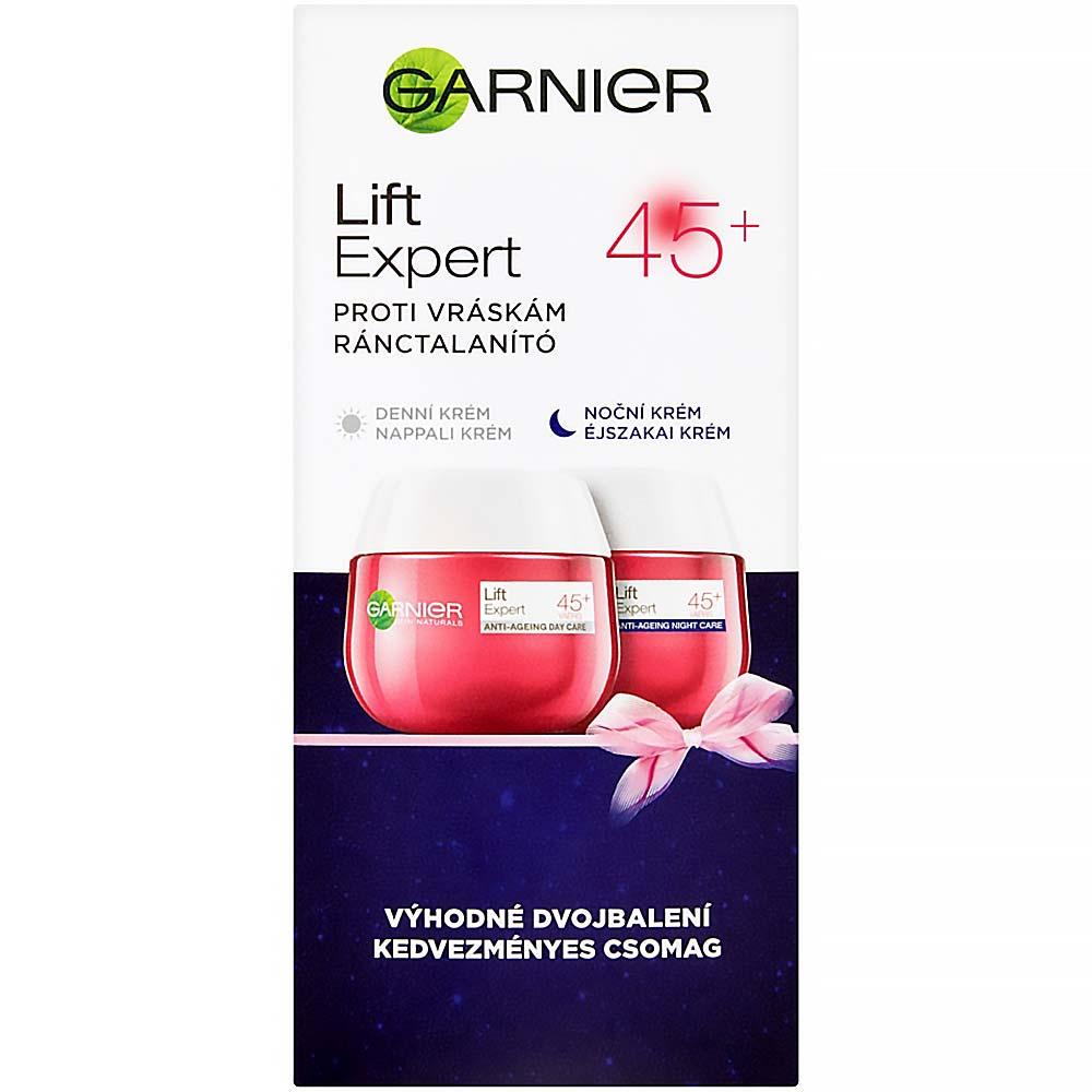 GARNIER Lift Expert 45+ Denní a noční krém proti vráskám 2x50 ml